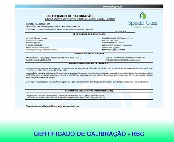 Empresas de calibração de vidrarias